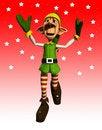 Free Jumping Elf Royalty Free Stock Photos - 17329528