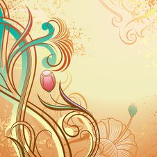 Free Abstract Floral Background Royalty Free Stock Images - 17320109