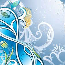 Free Blue Floral Stock Images - 17320114