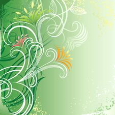 Free Green Floral Background Stock Photo - 17320120