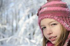 Free Beautiful Girl Smiling In Winter Stock Image - 17320171