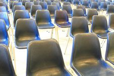 Black Chairs In Meeting Room Royalty Free Stock Photography
