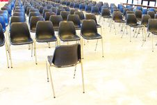 Black Chairs In Meeting Room Stock Images