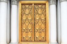 Free Vintage Door And Classic Column Stock Image - 17320561