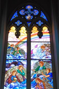 Free Colorful Glass Window In A Church Stock Images - 17320594