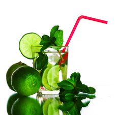 Free Mojito On White Stock Images - 17320684