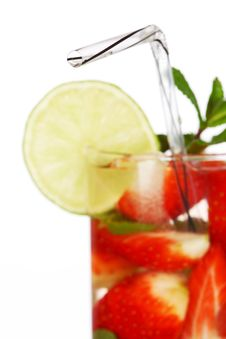 Free Strawberry Mojito Royalty Free Stock Photo - 17320695