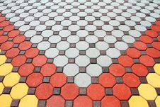 Colorful Pavement Pattern Stock Photos
