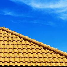 Free Roof Pattern And Blue Sky Stock Photos - 17320963
