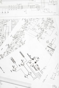 Free Electronic Schematic Diagram Stock Photography - 17321002