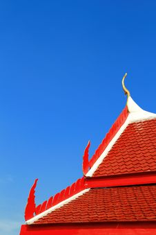Free Roof Of Thai Temple Royalty Free Stock Photos - 17321038
