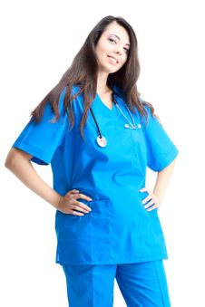 Free Smiling Woman Doctor Royalty Free Stock Photo - 17321155