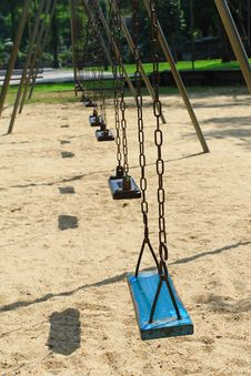 Free Swing Seat In The Park Royalty Free Stock Photo - 17321235