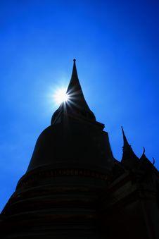 Thai Temple In Grand Palace Bangkok Royalty Free Stock Image