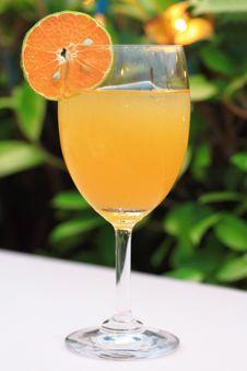 A Glass Of Fresh Orange Juice Stock Photo