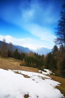Spring Alps Stock Images