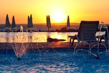Free Resort, Tropical Sunset Royalty Free Stock Photography - 17323437