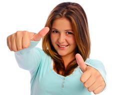 Free Thumbs Up Girl Royalty Free Stock Photo - 17323475