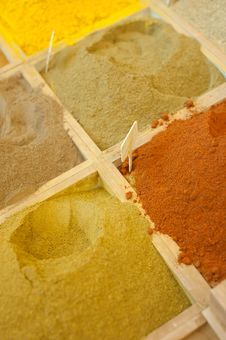 Free Spice Market Display Royalty Free Stock Photo - 17323635