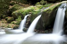 Free Autumn Forest Waterfall Royalty Free Stock Photography - 17323717