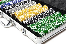 Free Gaming Case With Fishes Royalty Free Stock Image - 17323806