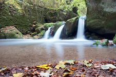Free Autumn Forest Waterfall Royalty Free Stock Photography - 17323857