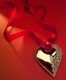 Free Art Golden Heart Stock Image - 17324571