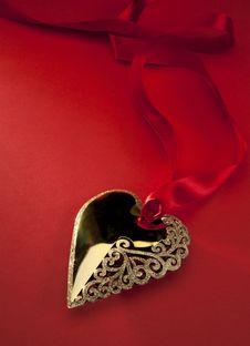 Free Art Golden Heart Stock Photos - 17324573