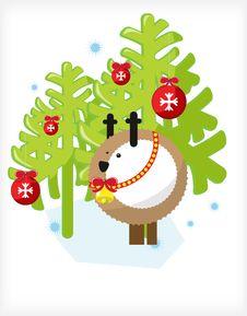 Free Deer Tree Stock Images - 17324624