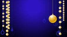 Free Wallpaper With Gold Christmas Bal Royalty Free Stock Photos - 17324998