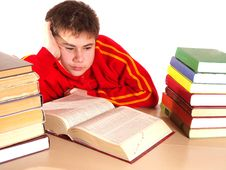 Free Boy And Books Royalty Free Stock Photos - 17325078