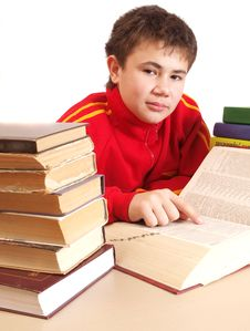 Free Boy And Books Stock Photo - 17325340