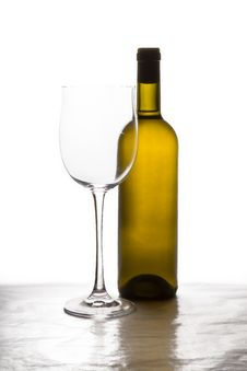 Free Bottle And Wineglass Stock Photography - 17325372
