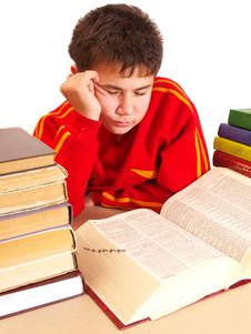 Free Boy And Books Royalty Free Stock Image - 17325376