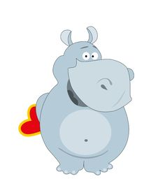 Free Blue Hippopotamus Royalty Free Stock Images - 17325899