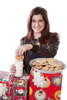 Free Dunking Cookie Royalty Free Stock Photos - 17326008