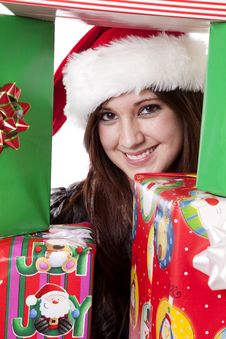 Free Happy Between Presents Stock Image - 17326151