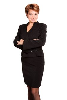 Free Beautiful Businesswoman With Her Arms Crossed Royalty Free Stock Image - 17326186