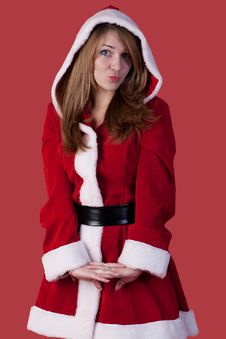 Free Sexy Girl Wearing Santa Claus Clothes Stock Photography - 17326562