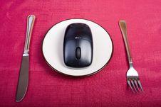 Eat Technology Stock Image