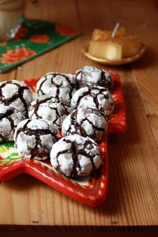 Free Chocolate Crinkles Stock Photo - 17327110