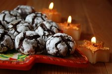 Free Chocolate Crinkles Royalty Free Stock Image - 17327126
