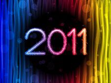 Free 2011 Colorful Waves On Black Background Stock Image - 17327241