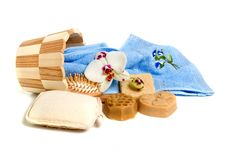 Soap And Bath Accessories Royalty Free Stock Photography