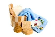 Soap And Bath Accessories Royalty Free Stock Image