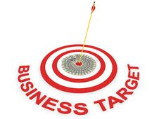 Business Target Royalty Free Stock Photos