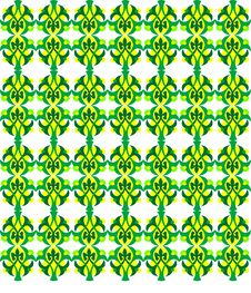 Free Abstract Yellow And Green Seamless Background Royalty Free Stock Images - 17328349
