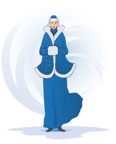 Blue Snow Maiden Stock Image