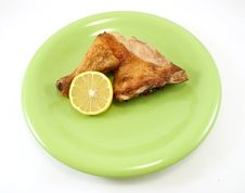 Free Roast Chicken Leg Royalty Free Stock Photo - 17329315