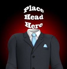 Free Place Head Here Royalty Free Stock Images - 17329539